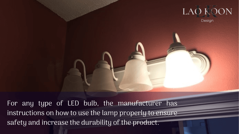 Can LED bulbs in regular fixtures