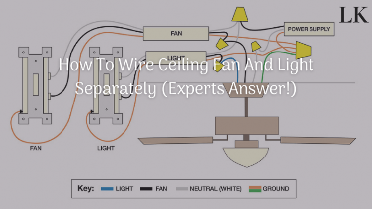 How To Wire Ceiling Fan And Light Separately