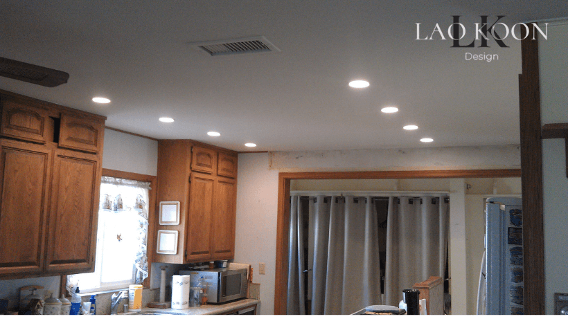 recessed ceiling lights in Kitchen