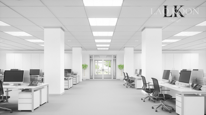 recessed ceiling lights in Office