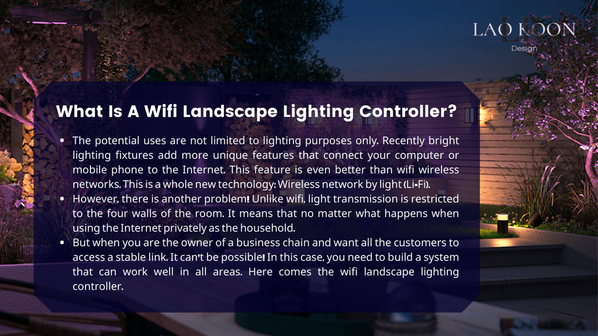 What Is A Wifi Landscape Lighting Controller?
