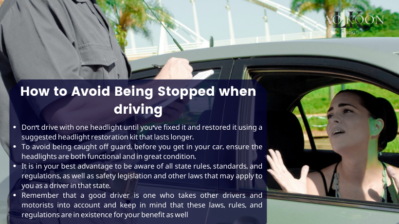 How to Avoid Being Stopped