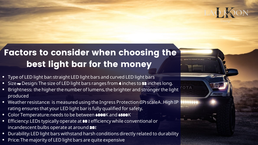 Key factors to consider when choosing the best light bar for the money