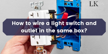 How to wire a light switch and outlet in the same box?