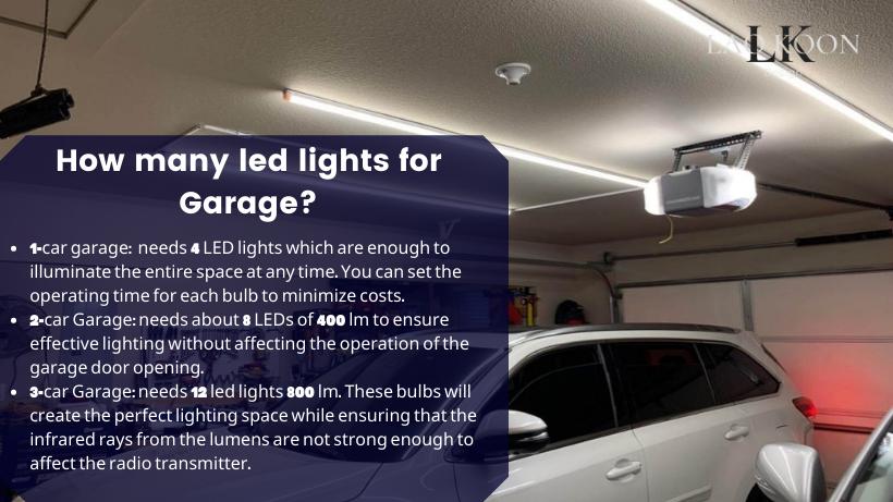 How many led lights for Garage?