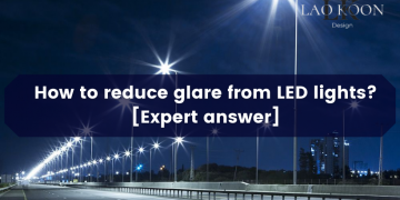 How to reduce glare from LED lights