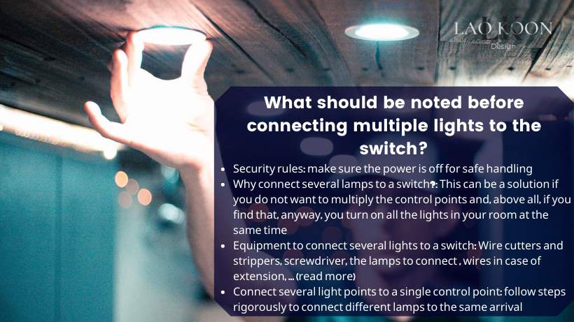 What should be noted before connecting multiple lights to the switch?