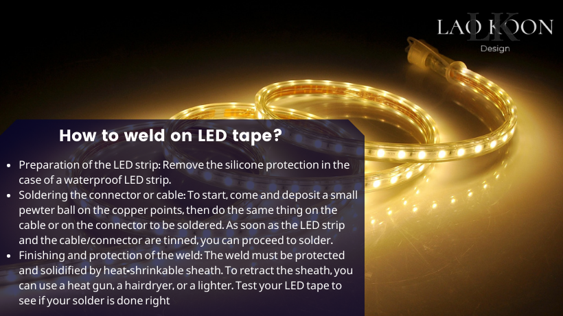 How to weld on LED tape?