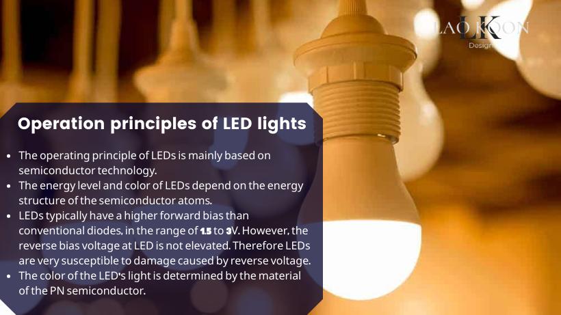 Operation principles of LED lights