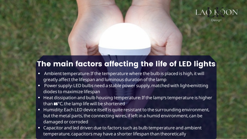 The main factors affecting the life of LED lights